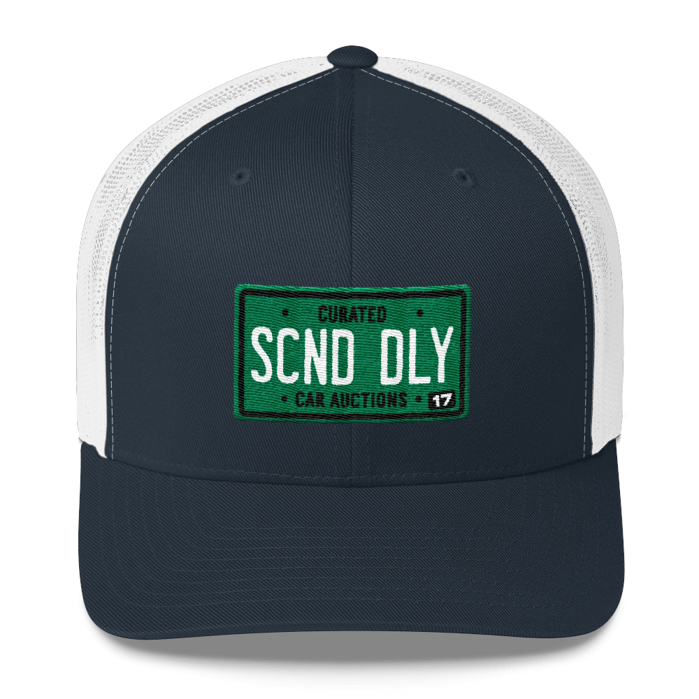 Scnd Dly License Plate Trucker Hat Second Daily Classics
